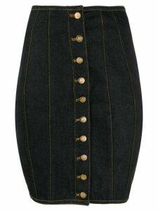 Jean Paul Gaultier Pre-Owned 1992 denim corset skirt - Black