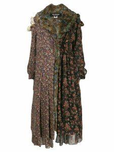 Junya Watanabe Comme des Garçons Pre-Owned panelled floral-print coat