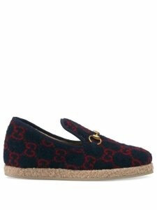 Gucci GG wool loafers - Blue