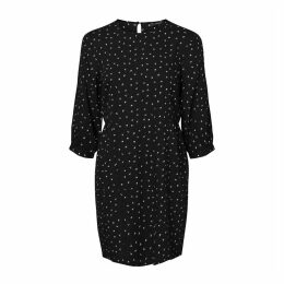 Short Fitted Dress with 3/4 Length Sleeves