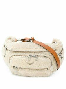 Zadig & Voltaire shearling belt bag - Neutrals
