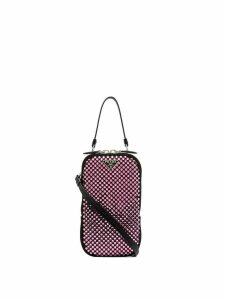 Prada crystal embellished mini bag - Pink