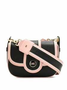 Elisabetta Franchi panelled shoulder bag - Black