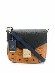 MCM charm lock crossbody bag - Black
