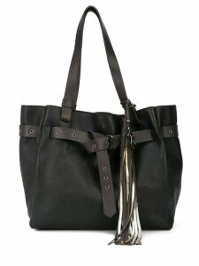 Henry Beguelin tassel tote bag - Black