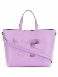 Tom Ford perforated logo shopper tote - Pink