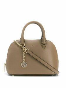 DKNY Bryant chain detail satchel bag - Neutrals