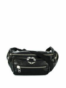 Zadig & Voltaire Crush textured belt bag - Black