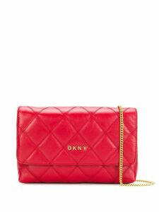DKNY Sofia quilted-effect crossbody bag - Red