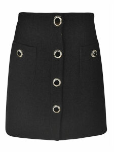 Alessandra Rich Button-embellished Detail Skirt