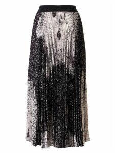 MSGM Pleated Cat Print Skirt
