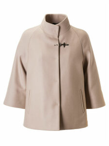 Fay Single Lock Stand-up Collar Coat