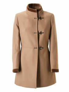 Fay Toggle Lock Stand-up Collar Coat