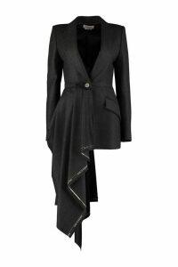 Alexander McQueen Slim Fit Wool Blazer