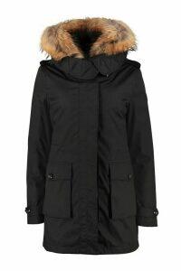 Woolrich Scarlett Padded Parka With Fur Hood