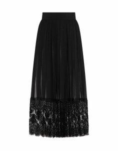 Dolce & Gabbana Lace Silk Georgette Skirt/georgette Seta Pizzo
