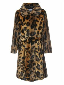 STAND STUDIO Animal Print Coat