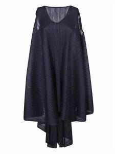 Pleats Please Issey Miyake Wide Sleeveless Pleated Dress