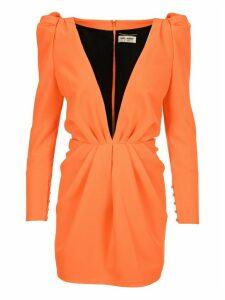 Saint Laurent Deep V-neck Dress