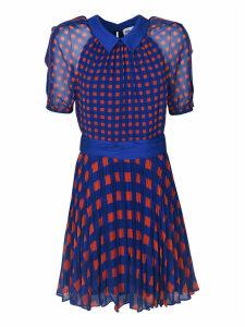 Self Portrait Gingham Printed Dress