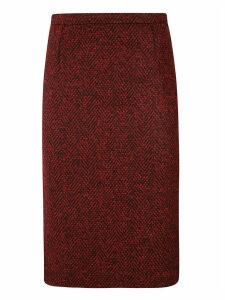 RED Valentino Rear Zipped Skirt