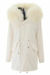 Mr & Mrs Italy Jazzy Midi Parka With Fur
