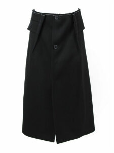 Maison Margiela Black A-line Wool Skirt
