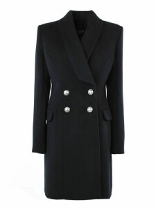 Balmain Black Wool Coat