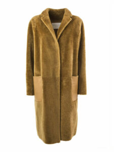 Fabiana Filippi Brown Merino Sherling Overcoat