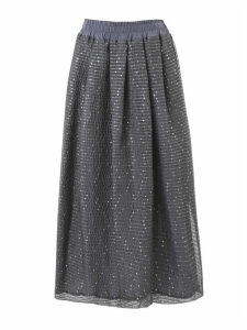 Fabiana Filippi Grey Cotton Blend Skirt