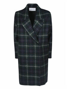 Harris Wharf London Tartan Over Fitted Coat