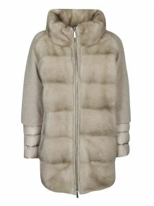 Moorer Panneled Faux Fur Coat