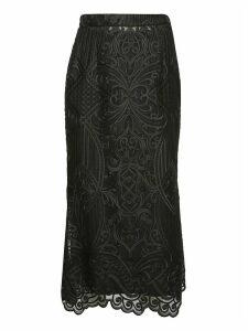 WANDERING Lace Midi Skirt