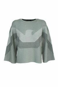 Emporio Armani ottoman fabric sweater