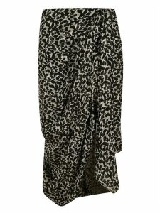 Isabel Marant Gathered Printed Skirt