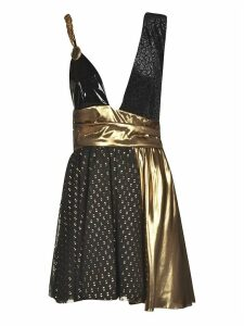 Fausto Puglisi Embellished Draped Sleeveless Dress