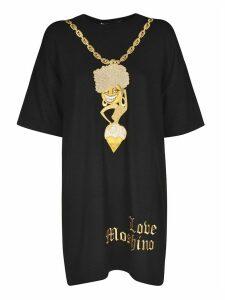 Love Moschino Glittered Embroidery Dress
