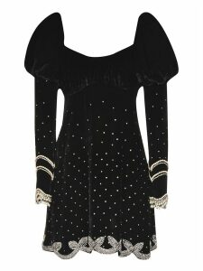 WANDERING Velvet Embellished Dress
