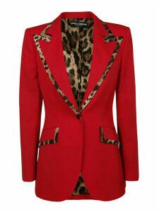 Dolce & Gabbana Leopard Printed Blazer