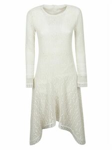 See by Chloé Laced Long-sleeve Back-zipped Dress
