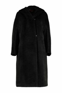 Max Mara Studio Urlo Hooded Alpaca Blend Coat