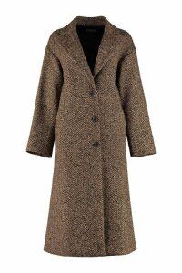 RED Valentino Herringbone Tweed Oversize Coat