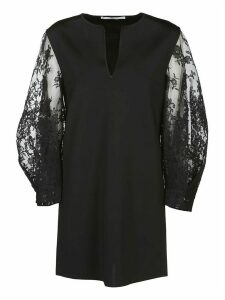 Givenchy Sheer Sleeves Short Dress