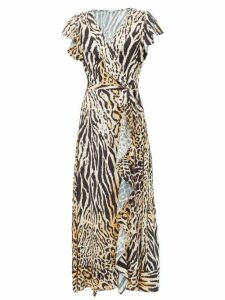 Melissa Odabash - Brianna Animal Print Wrap Poplin Dress - Womens - Animal
