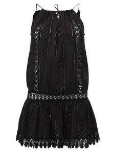 Melissa Odabash - Chelsea Broderie Anglaise Cotton Mini Dress - Womens - Black