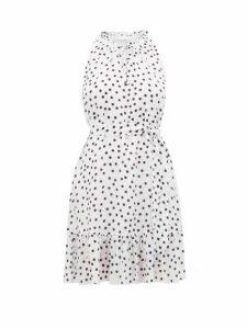 Heidi Klein - Santa Margherita Ligure Polka Dot Silk Mini Dress - Womens - White Print