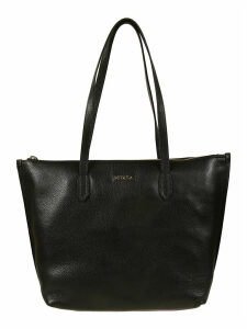 Furla Logo Plaque Top Zip Tote