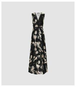 Reiss Kaira - Burnout Maxi Dress in Neutral, Womens, Size 16