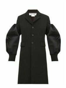 Comme Des Garçons Comme Des Garçons - Balloon Sleeve Single Breasted Wool Coat - Womens - Black