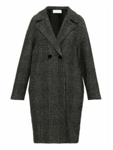 Harris Wharf London - Glen Checked Glitter Fil Coupé Coat - Womens - Black White